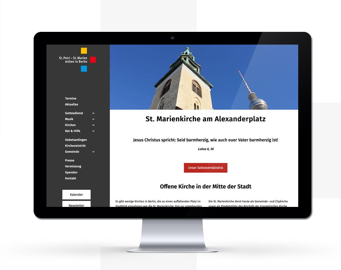 Ansicht Startseite Web Marienkirche Berlin